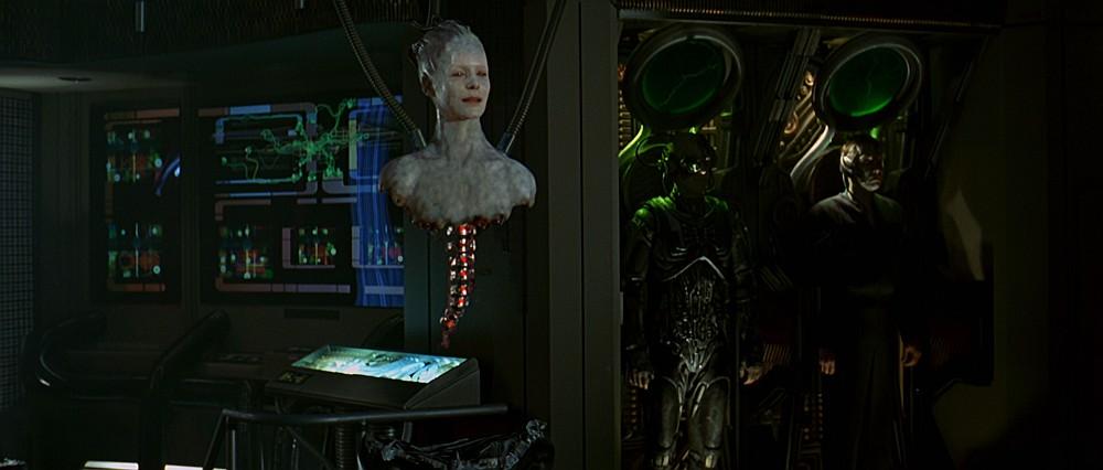 Testa della Regina Borg in Star Trek