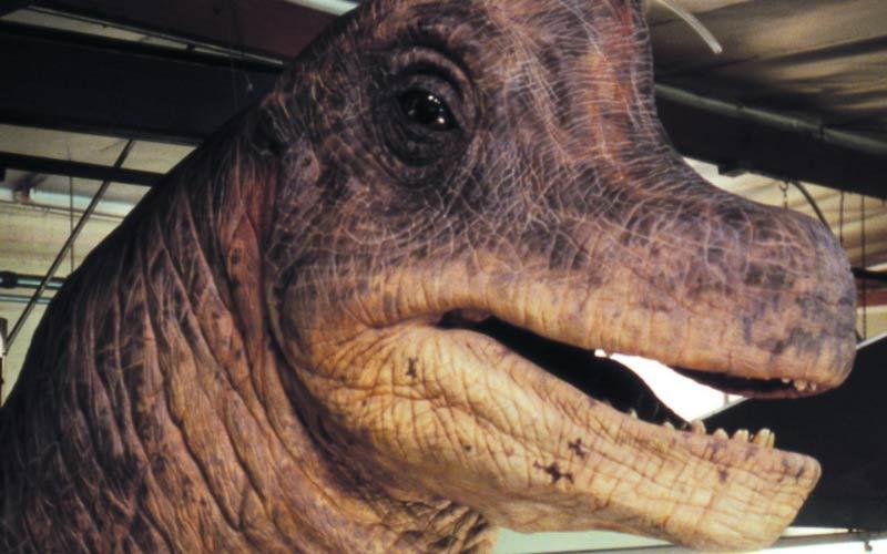 Brachiosauro Jurassic Park puppet di Stan Winston