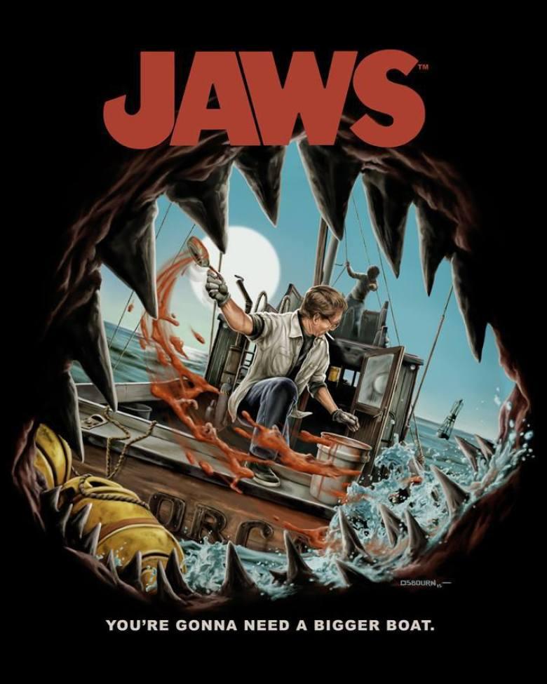 Poster artistico lo squalo
