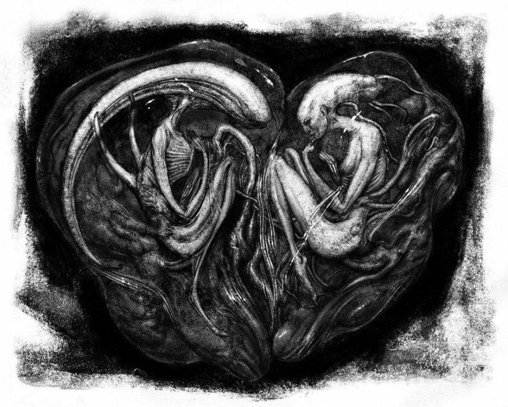 Alien prequel concept art e bozze