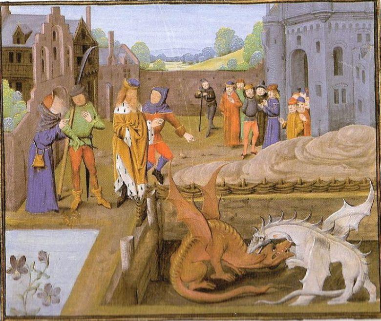 Drago arte medievale