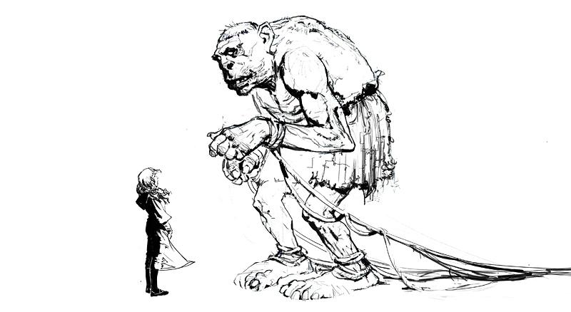 Concept di un gigante