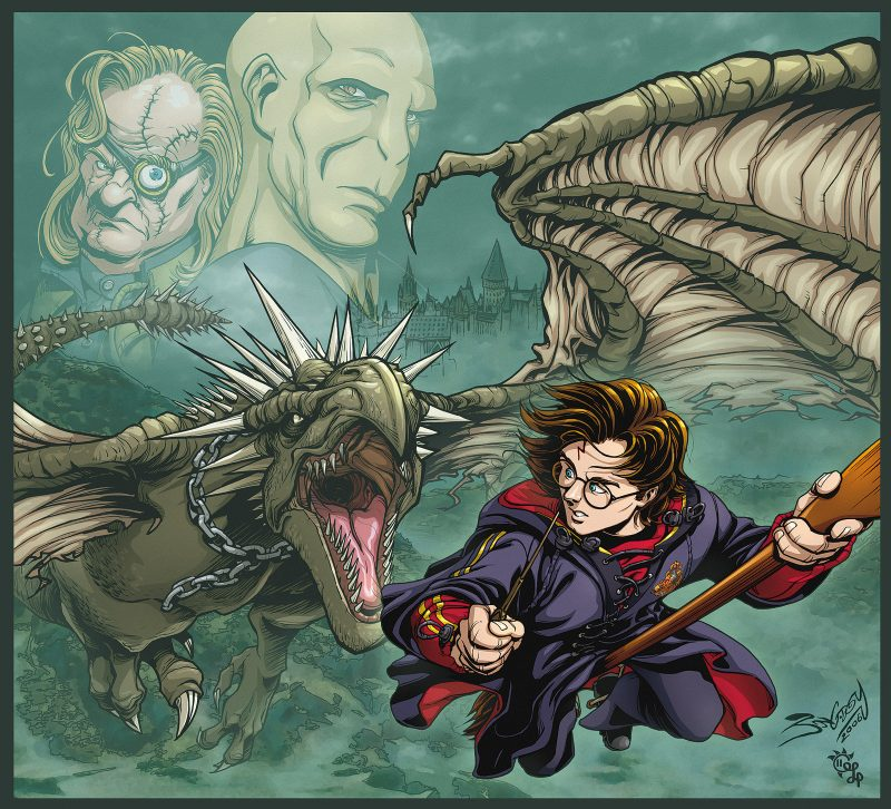 Harry Potter contro Ungaro Spinato fan art
