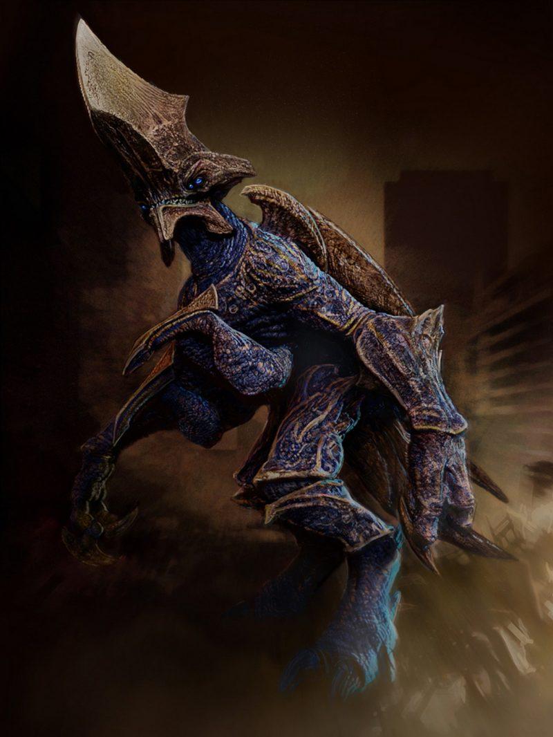 Hundun axehead concept del Kaiju