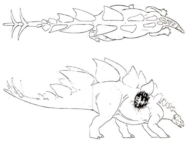 JP2 concept dello stegosauro
