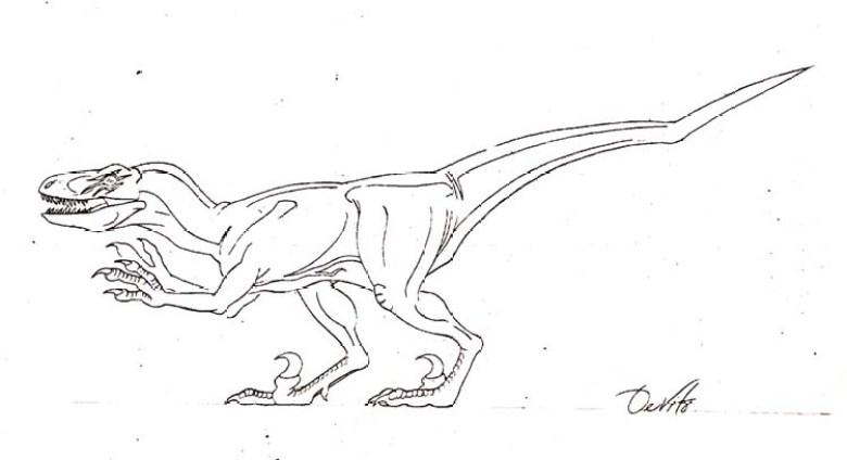 JP2 bozzetto del Velociraptor