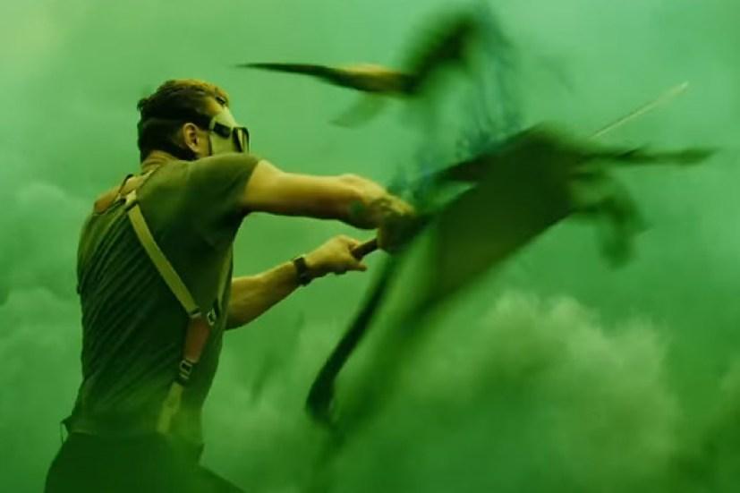 Skull Island scena Tom Hiddleston contro Psychovulture