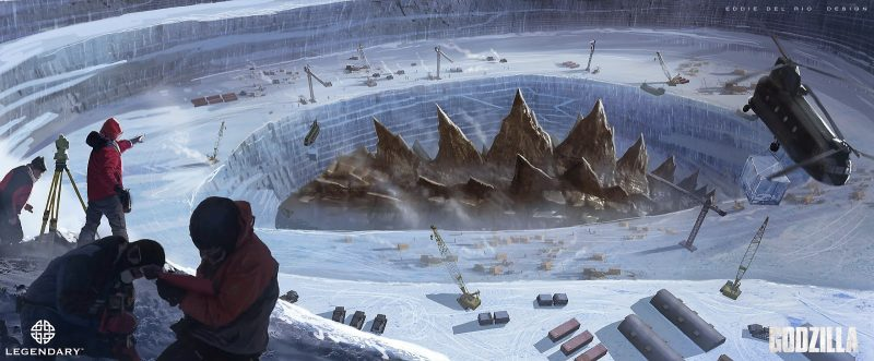 Godzilla artwork legendary