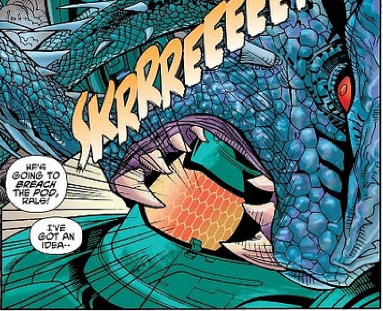 Clawhook nei fumetti contro uno Jaeger