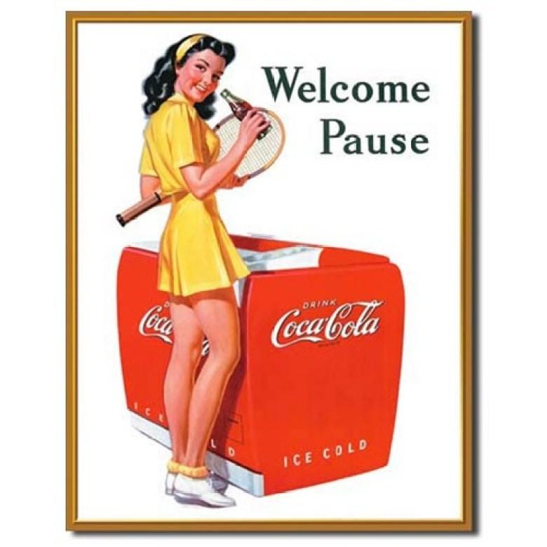 Spot vintage coca cola