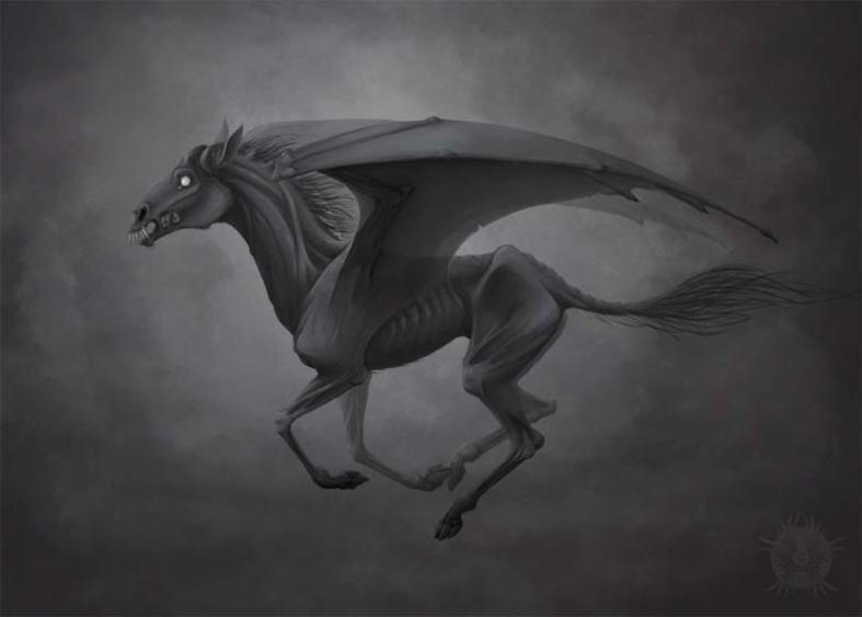 Thestral Harry Potter concept art