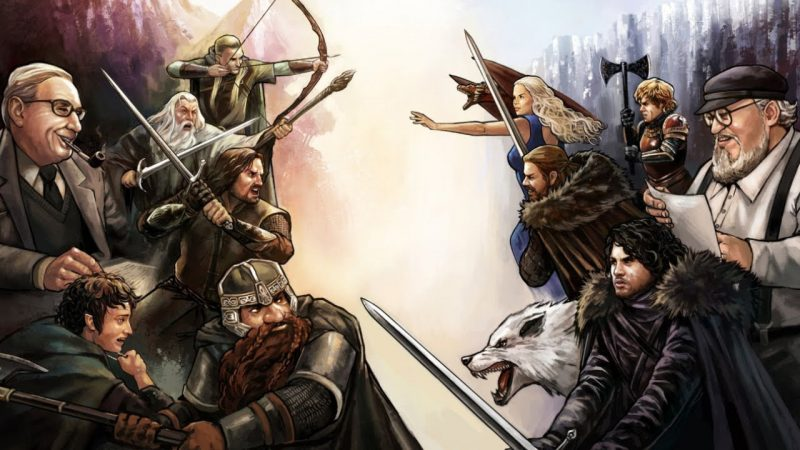 Signore degli Anelli vs Game of Thrones poster