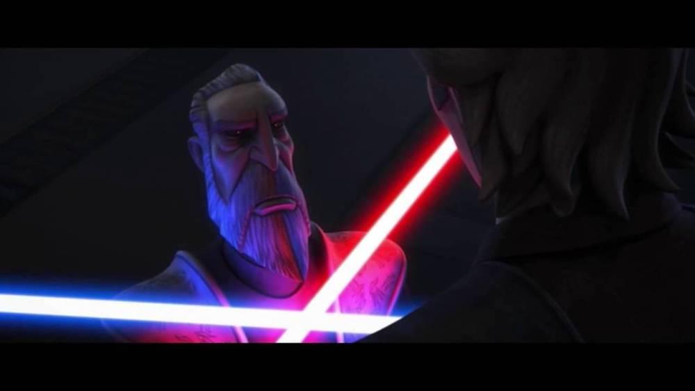Conte Dooku vs Anakin Clone Wars