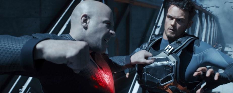 Bloodshot Vin Diesel scena di lotta