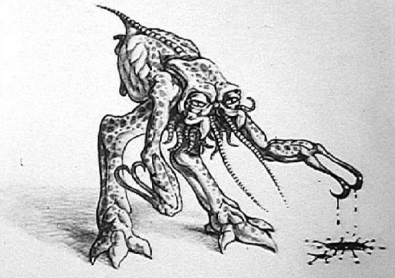 Bozza insettoide dello Xenomorfo in Alien
