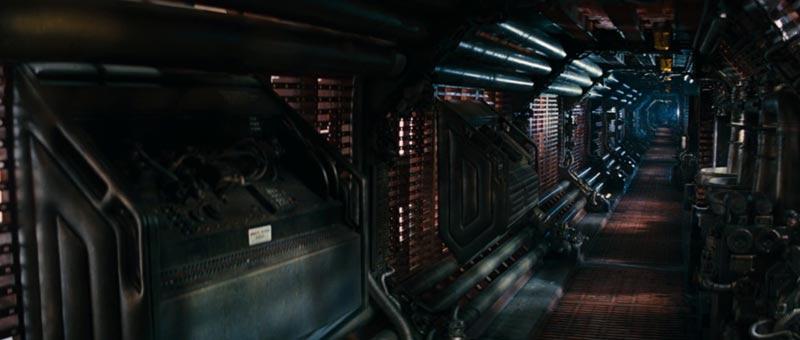 Alien corridoi della Nostromo