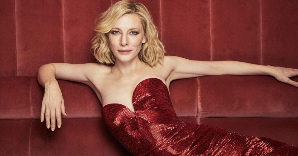 Cate Blanchett foto in abito rosso