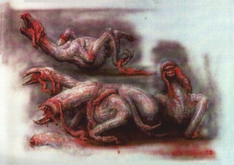 Concept art di Giger per il Chestburster