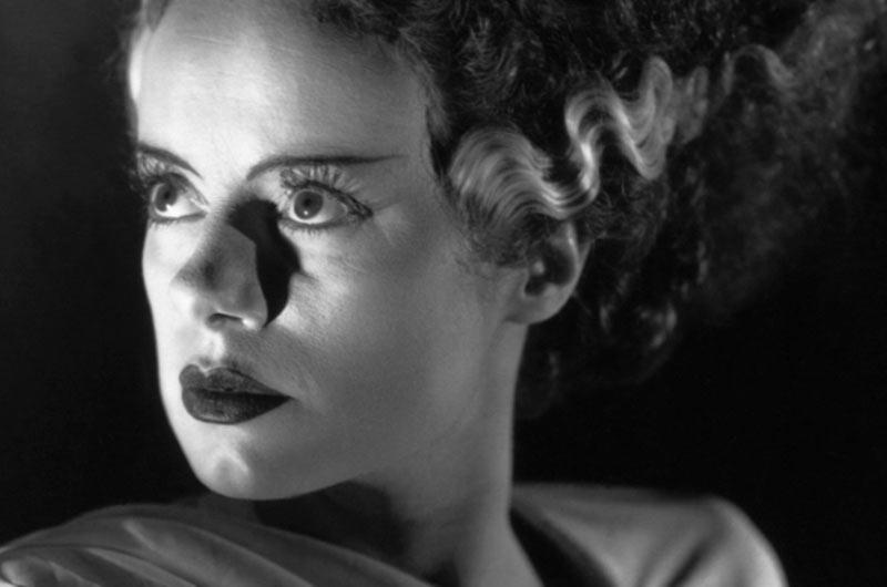 Elsa Lanchester Sposa di Frankenstein primo piano