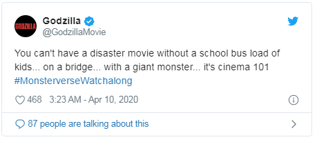 disaster movie godzilla tweet