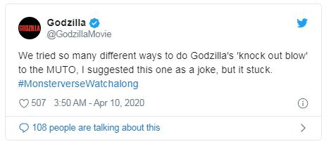 Godzilla e MUTO tweet