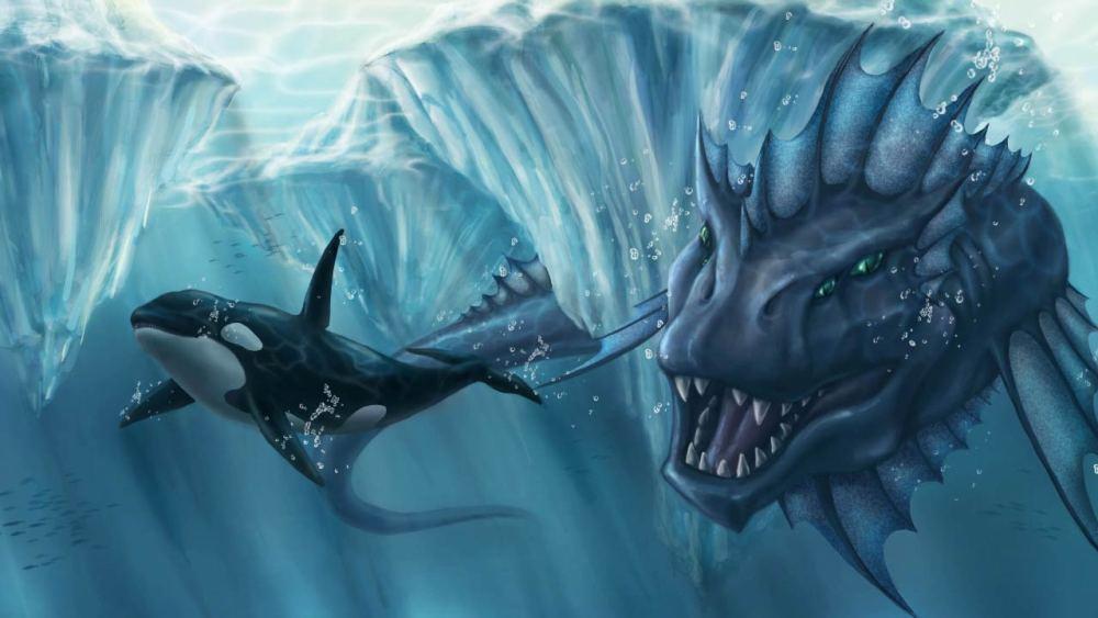 Mostro marino insegue un'orca