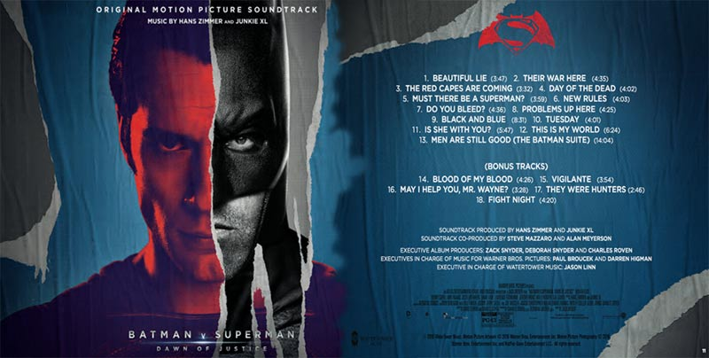 Colonna sonora Batman v Superman