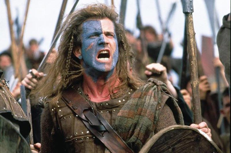 Braveheart Mel Gibson battaglia