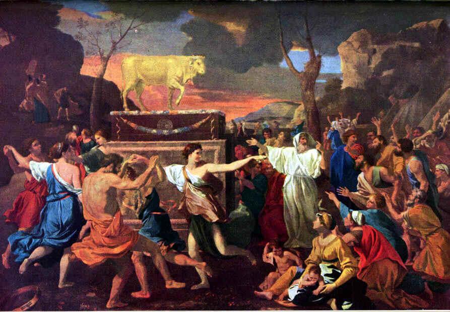 Vitello d'oro mitologia quadro
