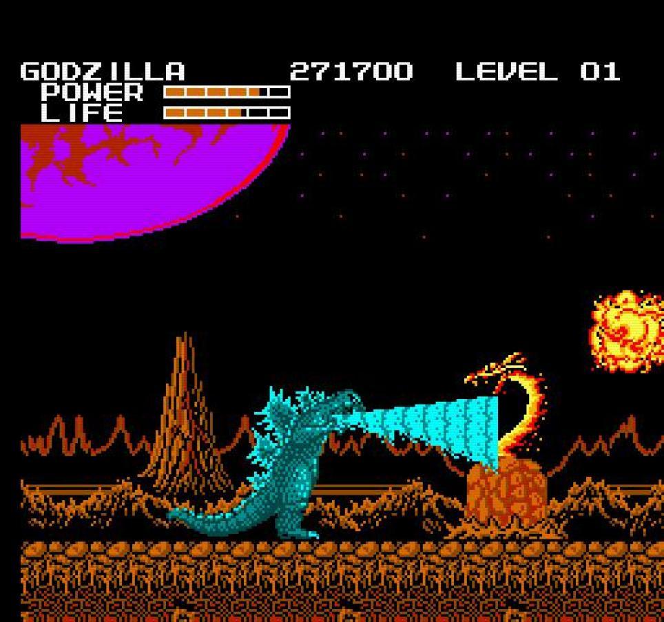 Godzilla Monster Of Monsters NES