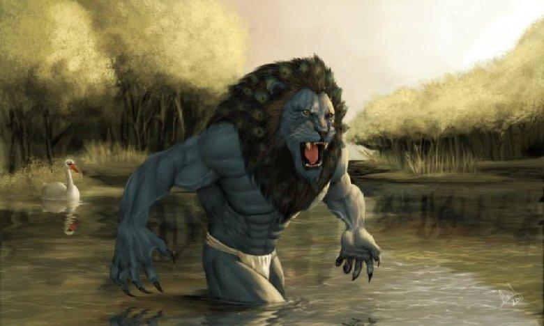 Maahes dio leone fiume antico Egitto