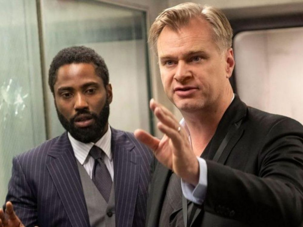 John David Washington e Christopher Nolan
