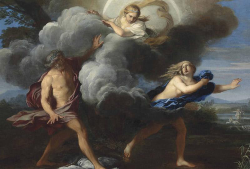 Dipinto con Ninfa Aretusa e Alfeo
