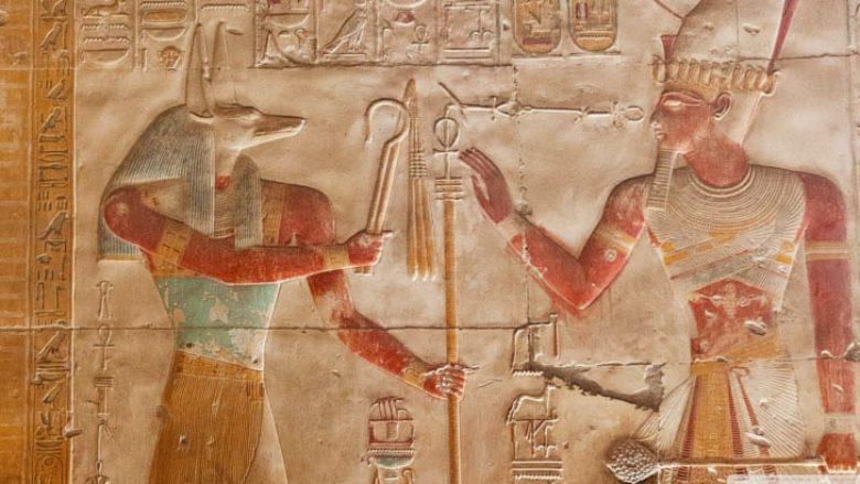 dei egiziani geroglifici parete