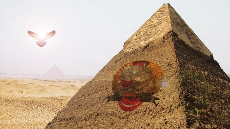 Poster con piramide Bestiario d'Egitto