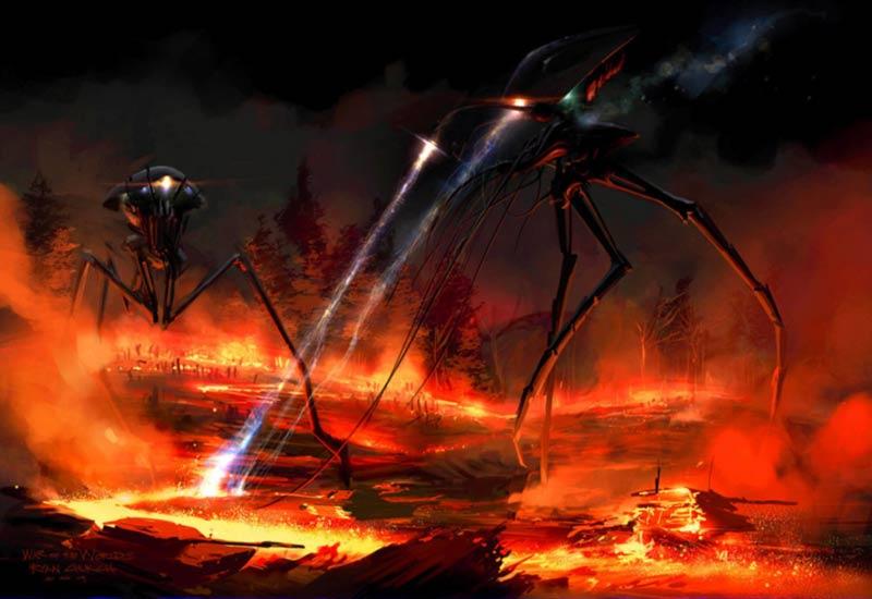 Tripodi fan art Guerra dei Mondi