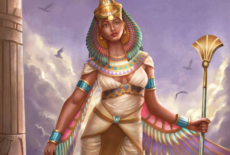 Artwork della dea Nefti