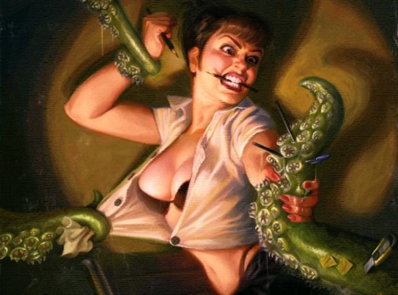 Ragazza mostro tentacoli Sesso mostruoso