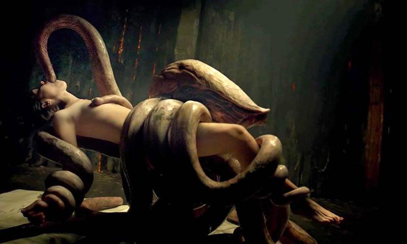 Untamed scena sesso con tentacoli