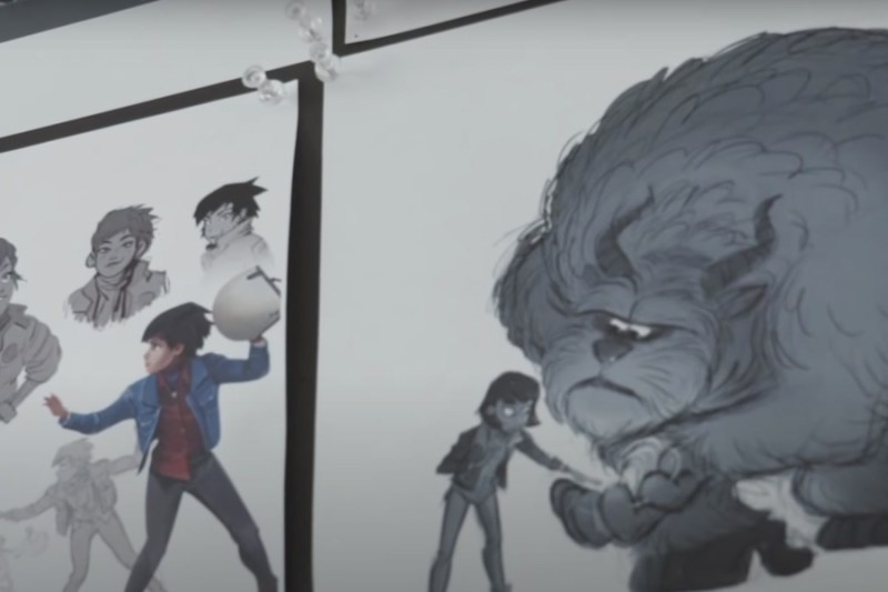 Concept art mostri Disney