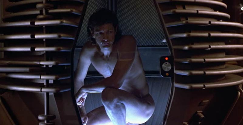 Seth Brundle dentro il telepod