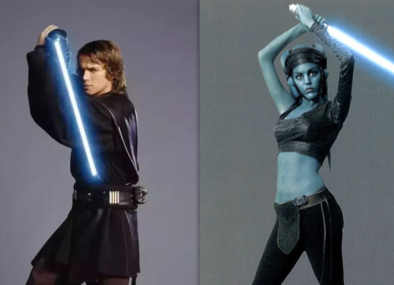 Djem So Aayla Secura e Anakin Skywalker