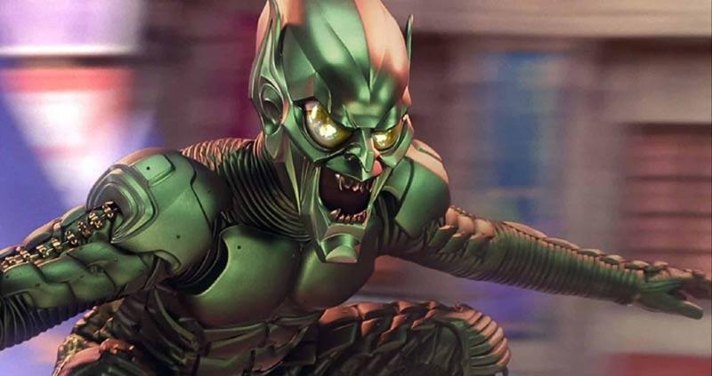 Goblin spiderman aliante armatura