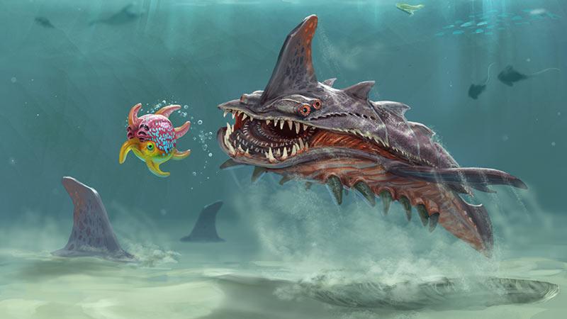 Bestiario di Subnautica squalo della sabbia
