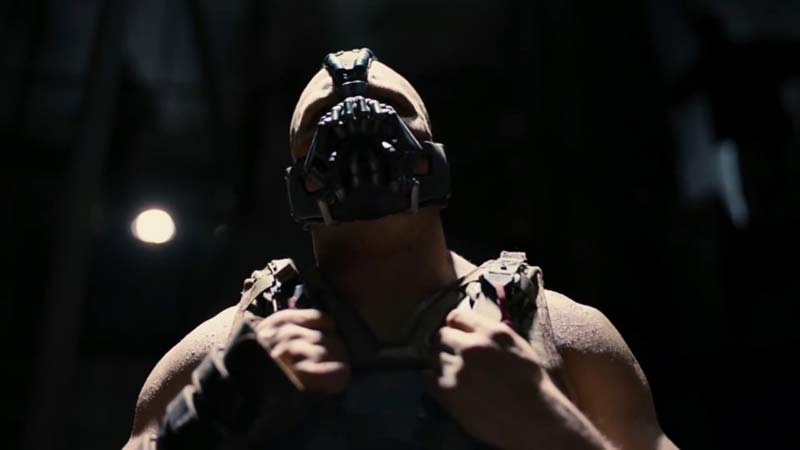 Tom Hardy Bane cavaliere oscuro il ritorno film
