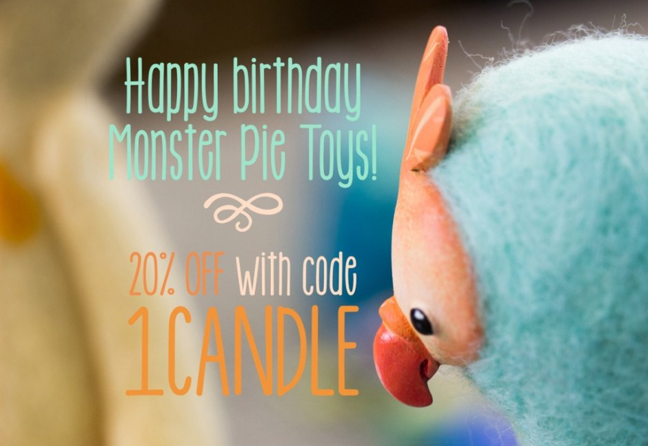 Monster Pie Toys - Coupon code birthday large