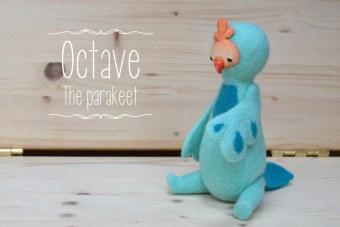 Meet Octave the parakeet