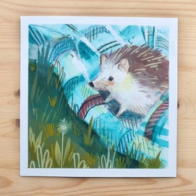 Hedgehog – original painting