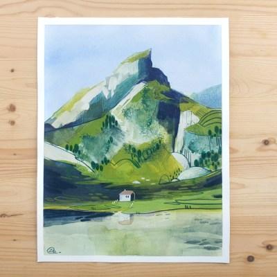 Swiss Mountain – original painting
