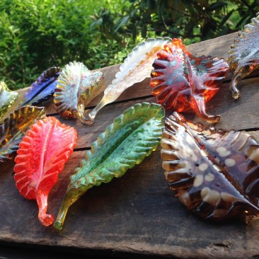 Exquisitely crafted and colorful leaves